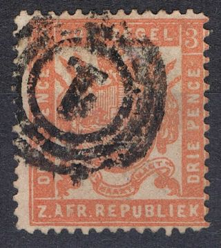 Zar Transvaal 3d Arms Vermilion Sg173d 1883 photo