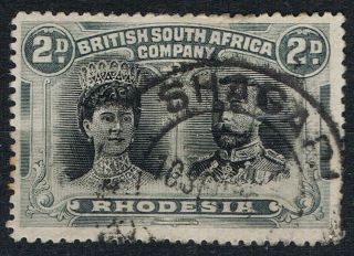 Rhodesia Double Heads 2d Black & Slate Sg129 Shagari Dc Post Mark photo