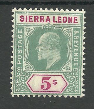 Sierra Leone Sg97 The 1905 Evii 5/ - Green And Carmine Fresh C.  £45 photo