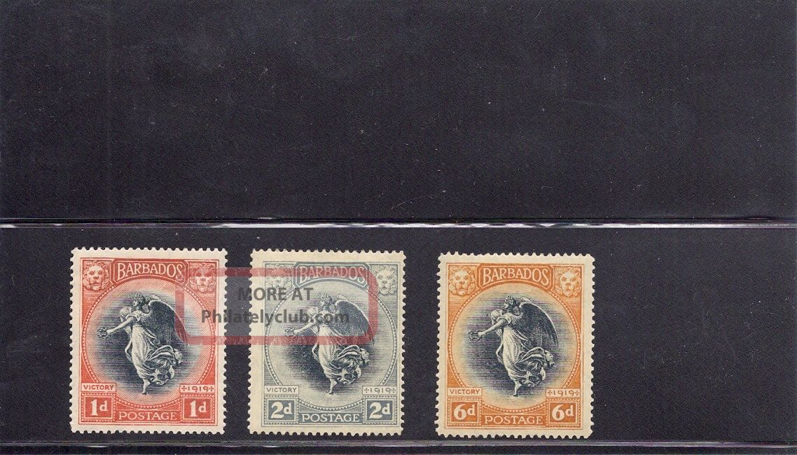 Barbados 1920 Victory Issue British Colonies & Territories photo