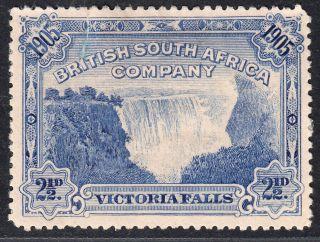 1905 Rhodesia Kevii Victoria Falls 2½ D Deep Blue (sg 95) Mh Vf Cv: £17 photo