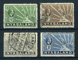 Nyasaland 1934 - 5 Kgv.  Various Values. . photo