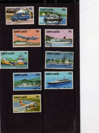 St Lucia 1980 Planes And Shios 9 Total photo