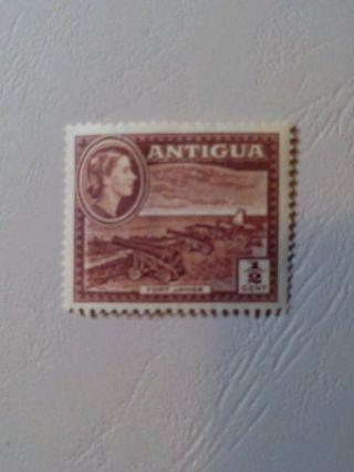Antigua 107 - Queen Elizabeth Ii - Fort James - Chocolate - Mint/nh/og photo
