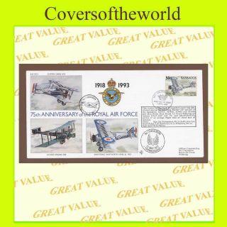 Barbados 1993 Raf 75th Anniv.  Flown Cover Raf (75) 4 photo