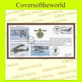 B.  I.  O.  T.  1993 Raf 75th Anniv.  Flown Cover Raf (75) 5 photo