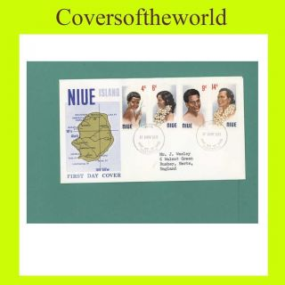 Niue 1971 Headress First Day Cover,  Addressed photo
