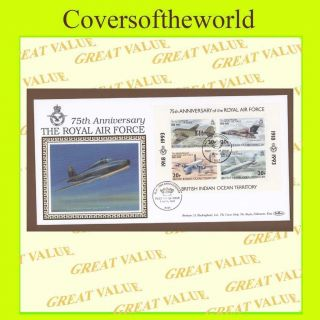 B.  I.  O.  T.  1993 Raf 75th Anniv.  M/s First Day Cover photo