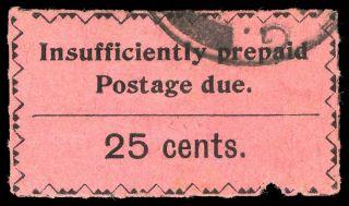 Zanzibar 1930 Postage Due 25c Black/rose Cat £130 ($208).  Sg D23.  Sc J16. photo