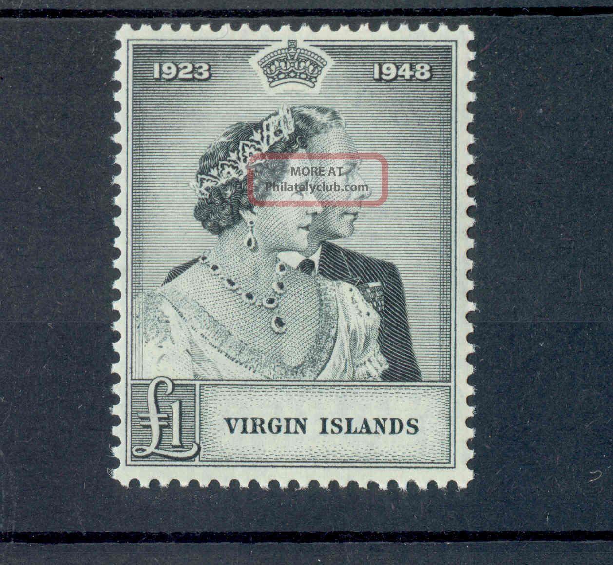 Virgin Islands Kgvi 1949 Rsw £1 Black Sg125 British Colonies & Territories photo