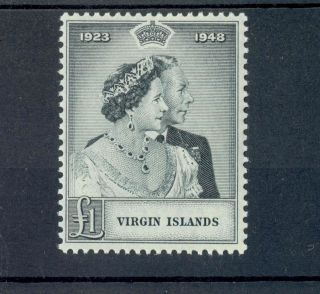 Virgin Islands Kgvi 1949 Rsw £1 Black Sg125 photo
