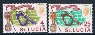 St.  Lucia 1966 World Cup Football Sg 222/3 photo
