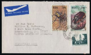 South Africa 571.  690 - 1 On Cover - Insects,  Flowers,  Architecture photo