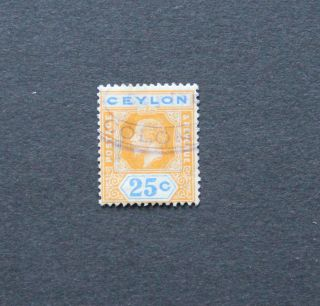 Ceylon Kgv 25c Wmk4 Die I Scott 238 Sg 351 photo