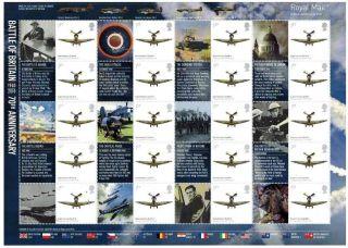 Ls74 Battle Of Britain 2010 Generic Smilers Full Sheet photo