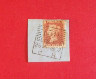 Gb Victoria Sg29 1d Red Star Qf Pl 33 On Piece Madelaine Smith Pmk R:y497 photo