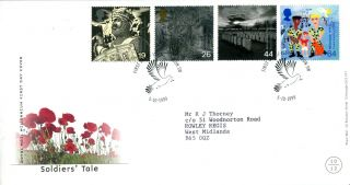 5 October 1999 Soldiers Tale Royal Mail First Day Cover London Sw Dove Shs photo