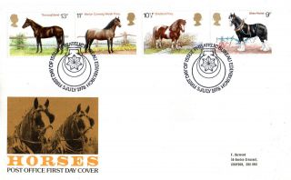 5 July 1978 Shire Horses Post Office First Day Cover Bureau Shs (p) photo