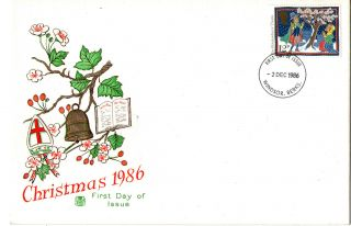 2 December 1986 Christmas 12p Stuart First Day Cover Windsor Fdi photo