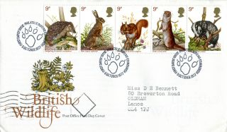 5 October 1977 British Wildlife Post Office First Day Cover Bureau Shs (a) photo