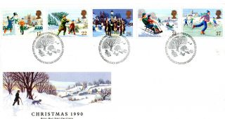 13 November 1990 Christmas Royal Mail First Day Cover Bethlehem Shs (u) photo