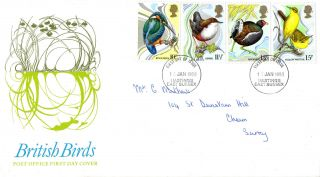 16 January 1980 British Birds Post Office First Day Cover Hastings E Sussex Fdi photo
