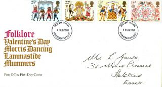 6 February 1981 Folklore Post Office First Day Cover Bournemouth Poole Fdi photo