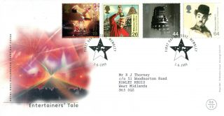 1 June 1999 Entertainers Tale Royal Mail First Day Cover Wembley Star Shs photo