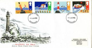 18 June 1985 Safety At Sea Royal Mail First Day Cover Birmingham Fdi photo
