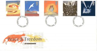 2 May 1995 Peace And Freedom Royal Mail First Day Cover Taunton Fdi photo