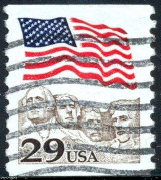 2523c 29c Flag Over Mt.  Rushmore Toledo Brown Variety Single A4 photo