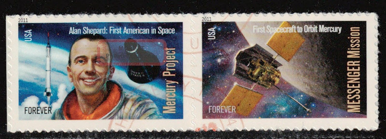 Scott 4527 - 28 Block Of 2 Space Firsts United States photo