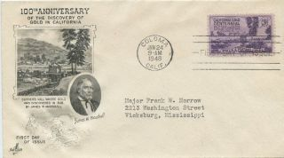 1948 Fdc,  Gold Discovered California photo