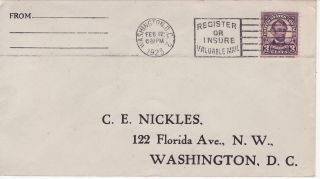 555 - Nc 3c Lincoln (4th Bureau Flat Plate) Dc 2/12/23,  S,  Svcd Nickles (c.  C. ) photo