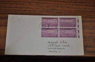 November 2,  1939 First Day Cover Of Statehood South Dakota.  03 Stamp Block photo