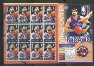 Micronesia 614 National Basketball Assoc. ,  Toronto Raptors Miniature Sheet photo