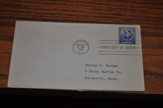 March 28,  1940 First Day Cover Of Francis E Willard.  05 Stamp photo