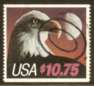U.  S.  Scott 2122 $10.  75 Eagle & Moon F Ng High Value Priority Bklt Single photo