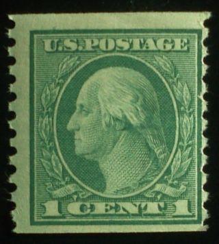 U.  S.  Scott 490 1c Coil Perf.  10 Vertically,  Nh,  F photo