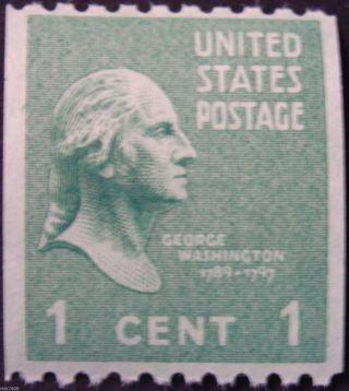 Stamp Us Cat.  848,  1c George Washington,  Presidential Series,  (1939),  M/nh/og photo