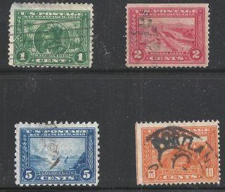 Scott 397 - 400,  Singles 1913 Fvf photo