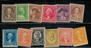 704 - 15 Washington Bicentennials Of 1932 12 Different photo