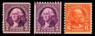 Us.  721 - 22 - 23 Coil Issues Of 1932 - Mognh - Vf - $22.  50 (esp 5575) photo