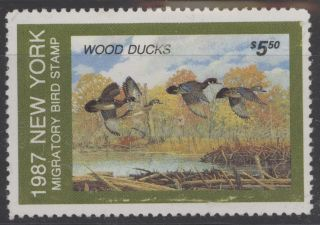 1987 York State Duck Stamp, ,  No Gum photo