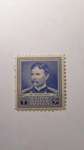 Dr.  Walter Reed 5c (1) Stamp Cat 877 F/v20c C/v $2.  00 L/h O/g photo