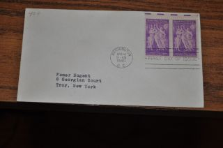 April 14,  1940 First Day Cover Of Pan American Union.  03 Stamp 2 Stamp Block photo