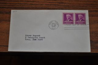 April 17,  1940 First Day Cover Of Luther Burbank.  03 Stamp 2 Stamp Block photo