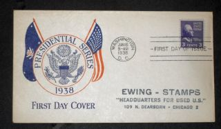 1938 Presidential Issue Fdc 807 photo