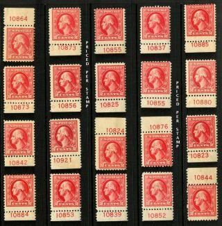 1920 Sc 526 Type Iv Mhr Plate No.  Cv $65 Ea U - Pik Your Stamp photo