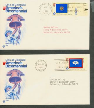 Us Scott ' S 1633 - 1682 Bicentennial Fdc All 50 States photo
